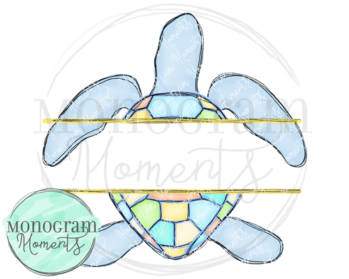 Blue Turtle Name Plate