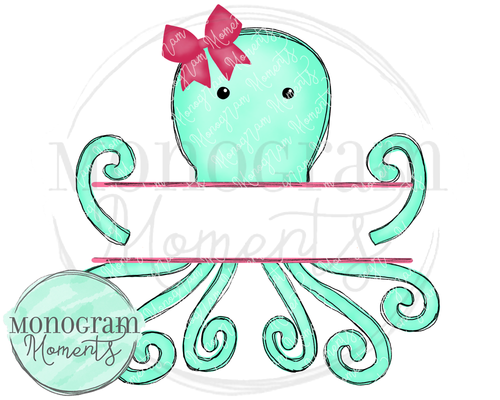 Mint Octopus Name Plate