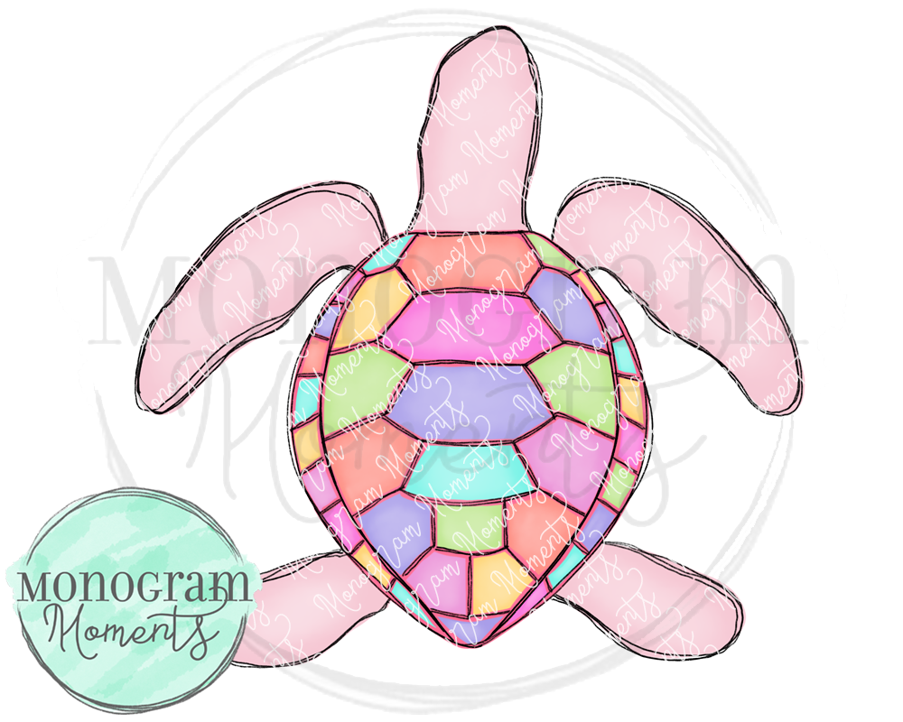 Pink Colorful Turtle