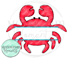 Red Crab Name Plate