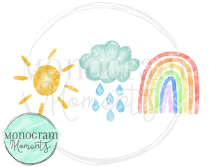 Sunshine, Rain Shower, Rainbow