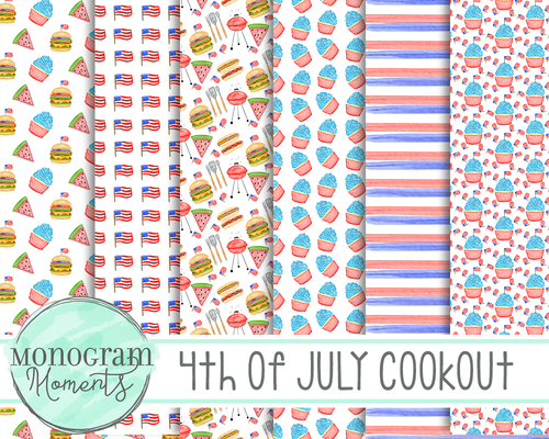 4th of July Cook Out - Digital Paper