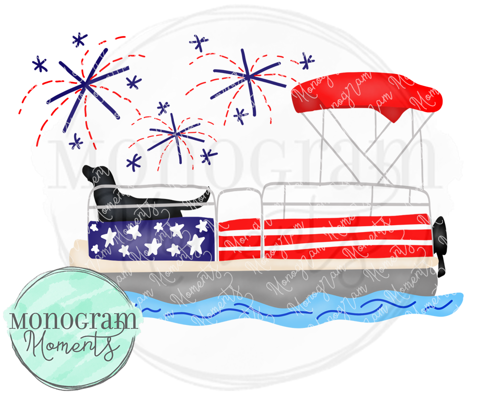 Black Lab July 4th Pontoon