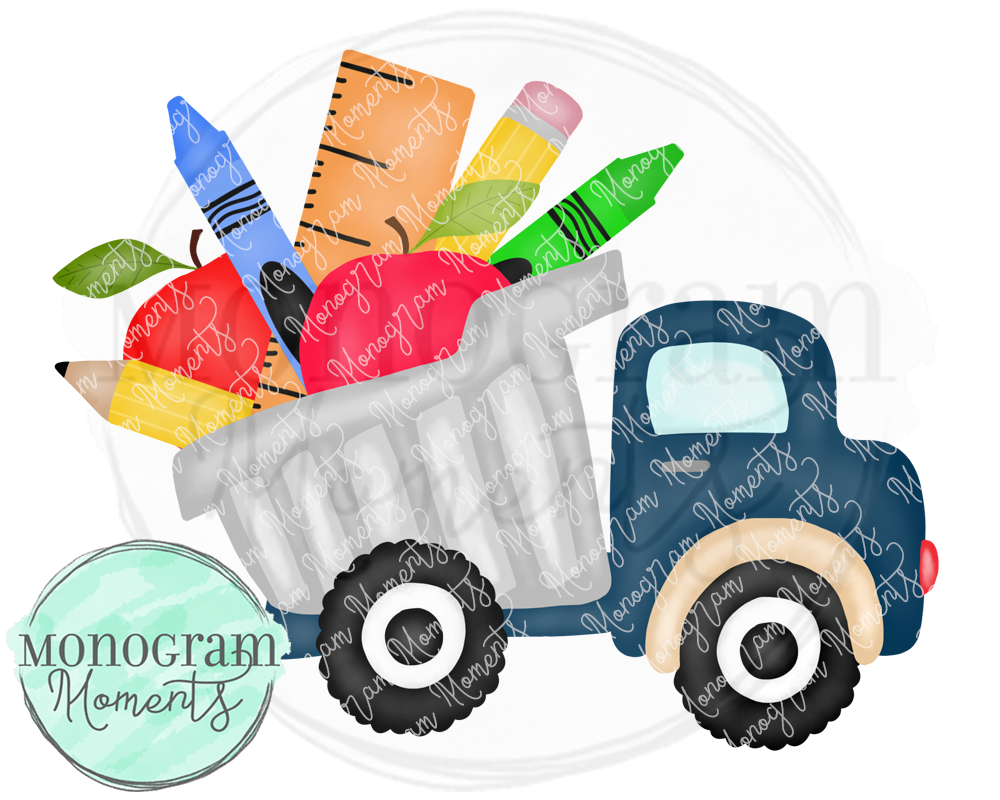 Boy's School Supplies Dump Truck