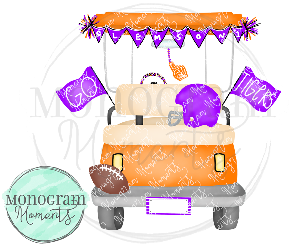 Boy's Clemson Football Golf Cart