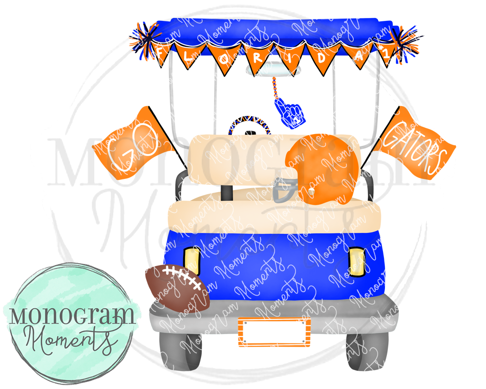 Boy's Florida Football Golf Cart