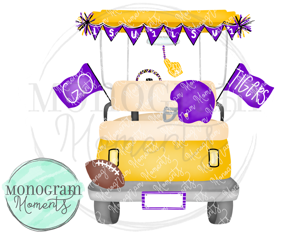 Boy's LSU Football Golf Cart