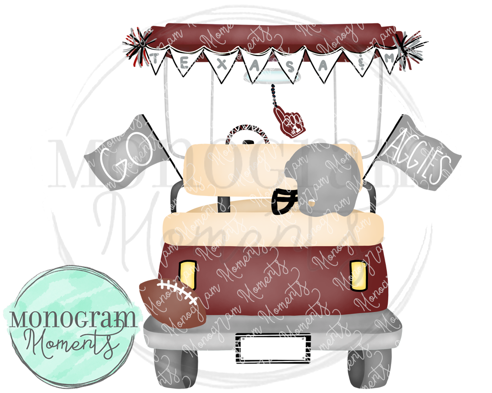 Boy's Texas A&M Football Golf Cart