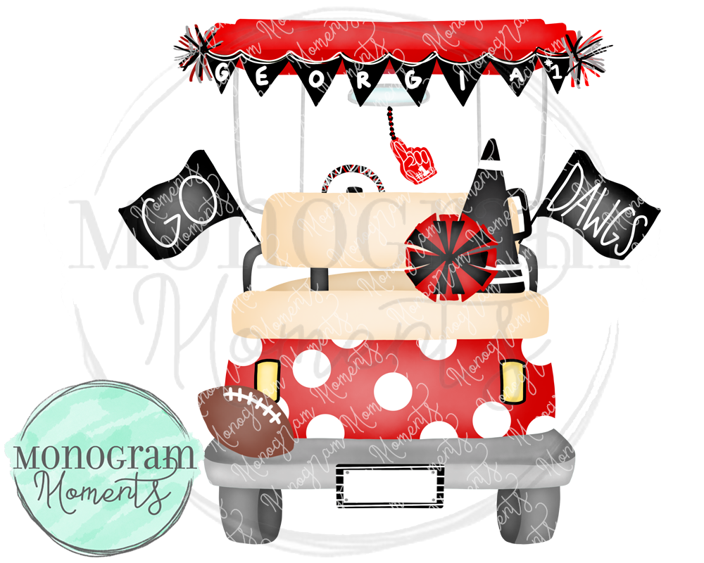 Girl's Georgia Football Golf Cart