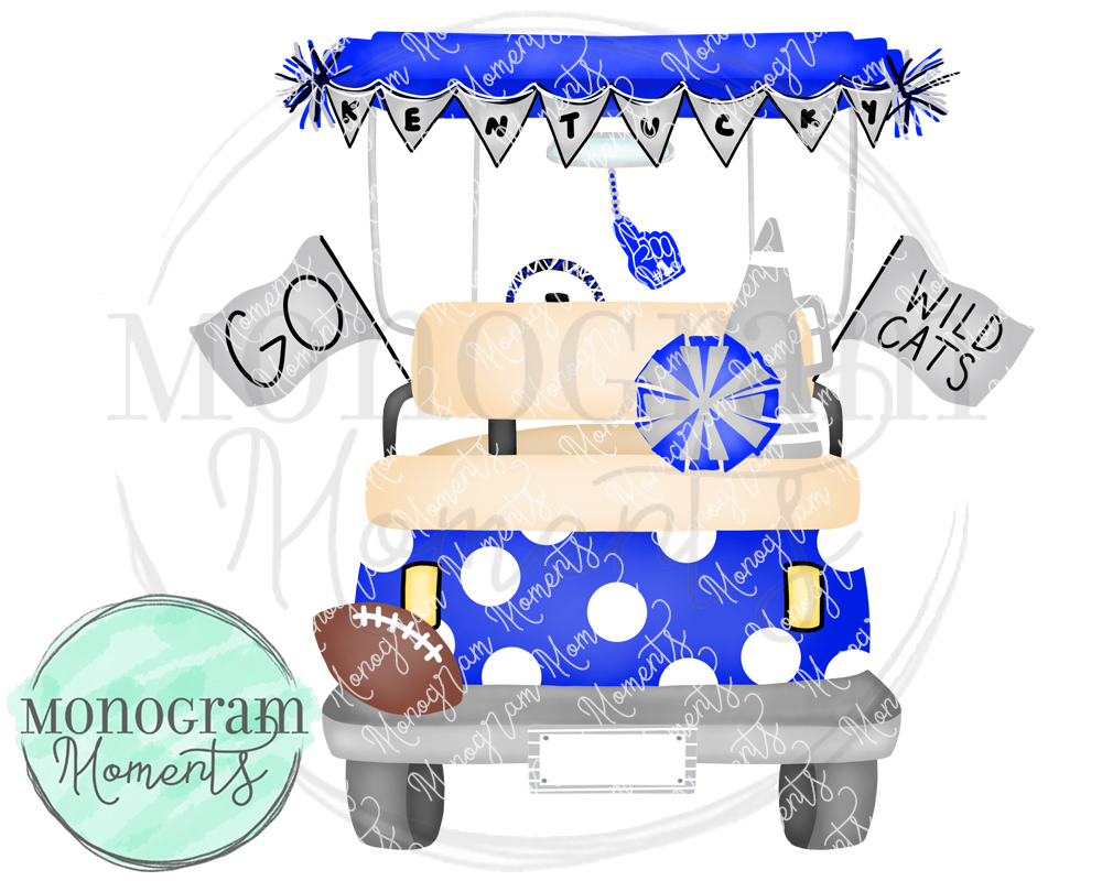 Girl's Kentucky Football Golf Cart