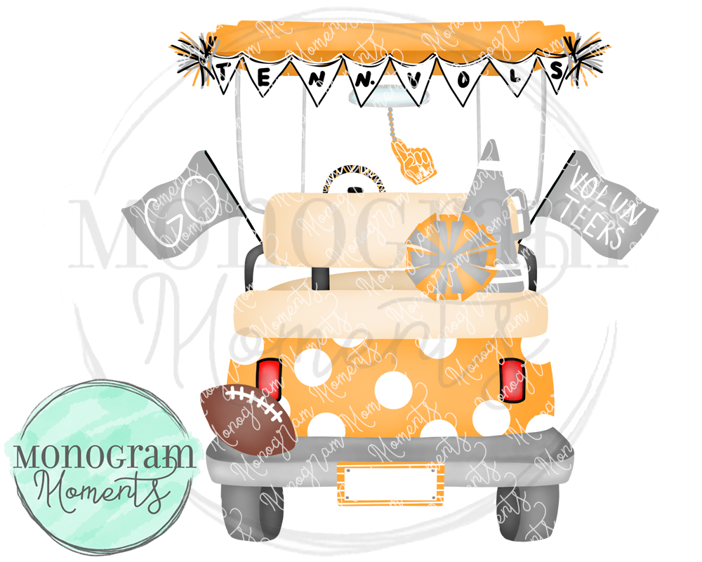 Girl's Tennessee Football Golf Cart