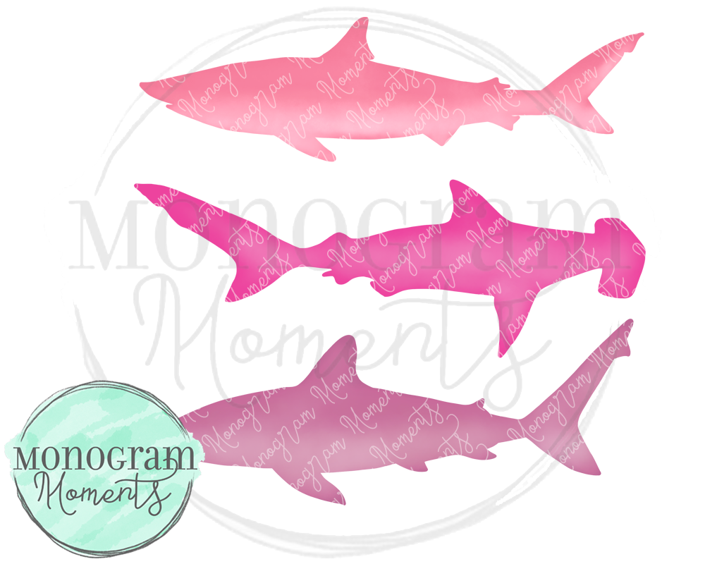 Stacked Pink Sharks