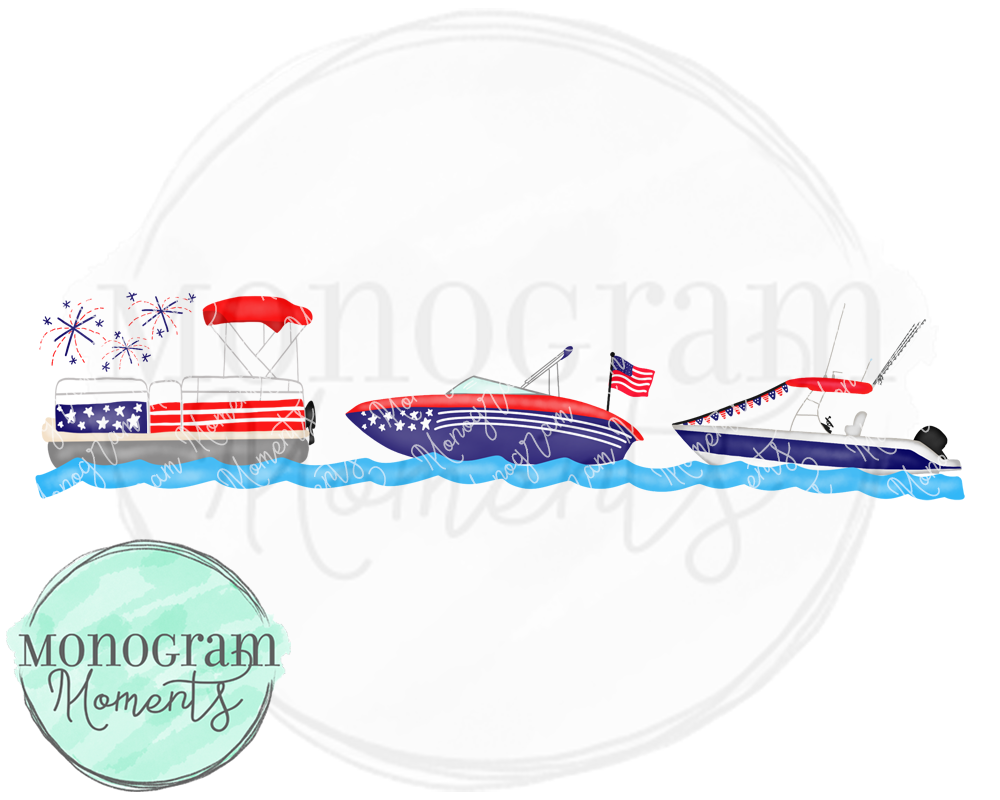 4th of july boat parade, boys sublimation design, boys summer boats