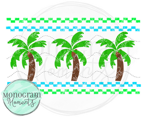 Boy's Smocked Palm Trees