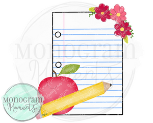 Back to School Floral Paper