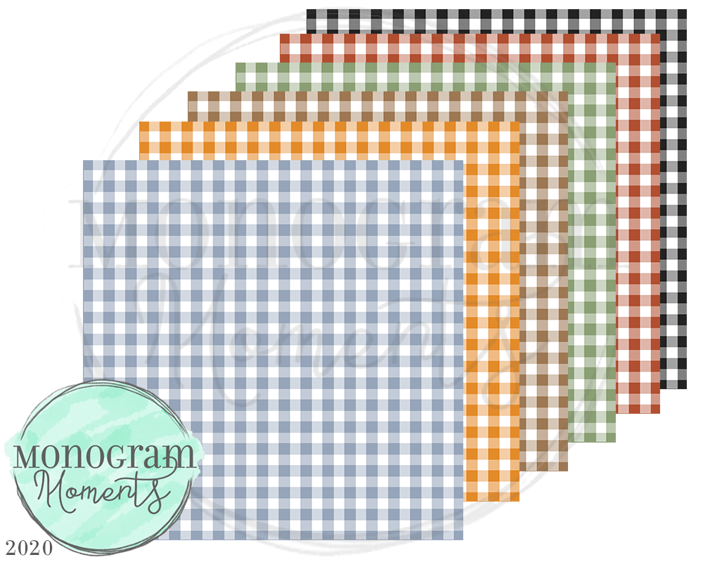 Fall Small Gingham Backgrounds