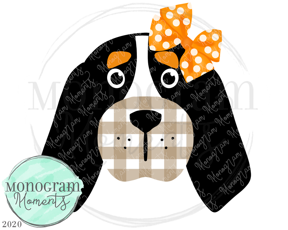 Girl's Plaid Coonhound Face