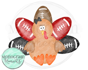 Girl's Black & Red Football Turkey