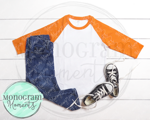 Orange Raglan & Jeans - ARB Blanks