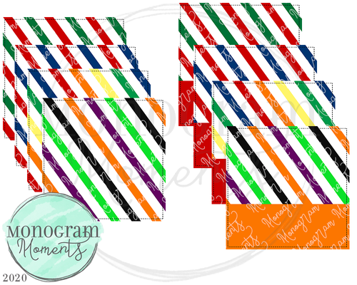 Holiday Stripes Square Backgrounds