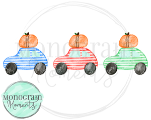 Boy's Pumpkin Car Trio