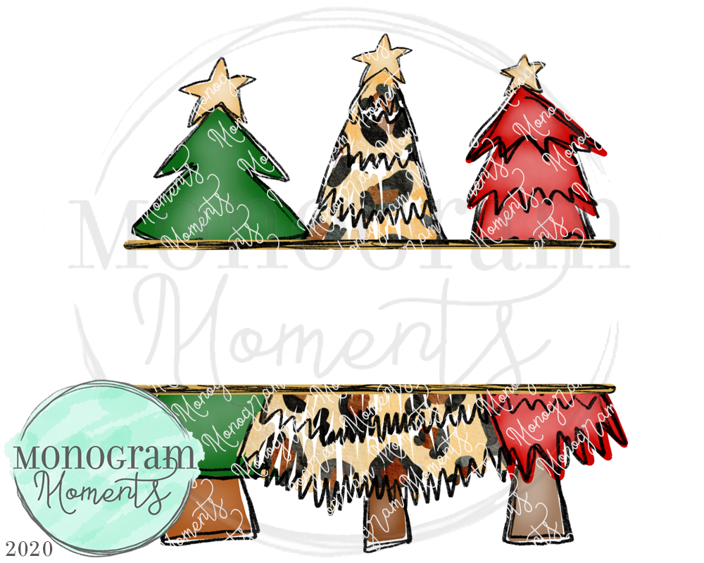 Funky Christmas Trees Nameplate