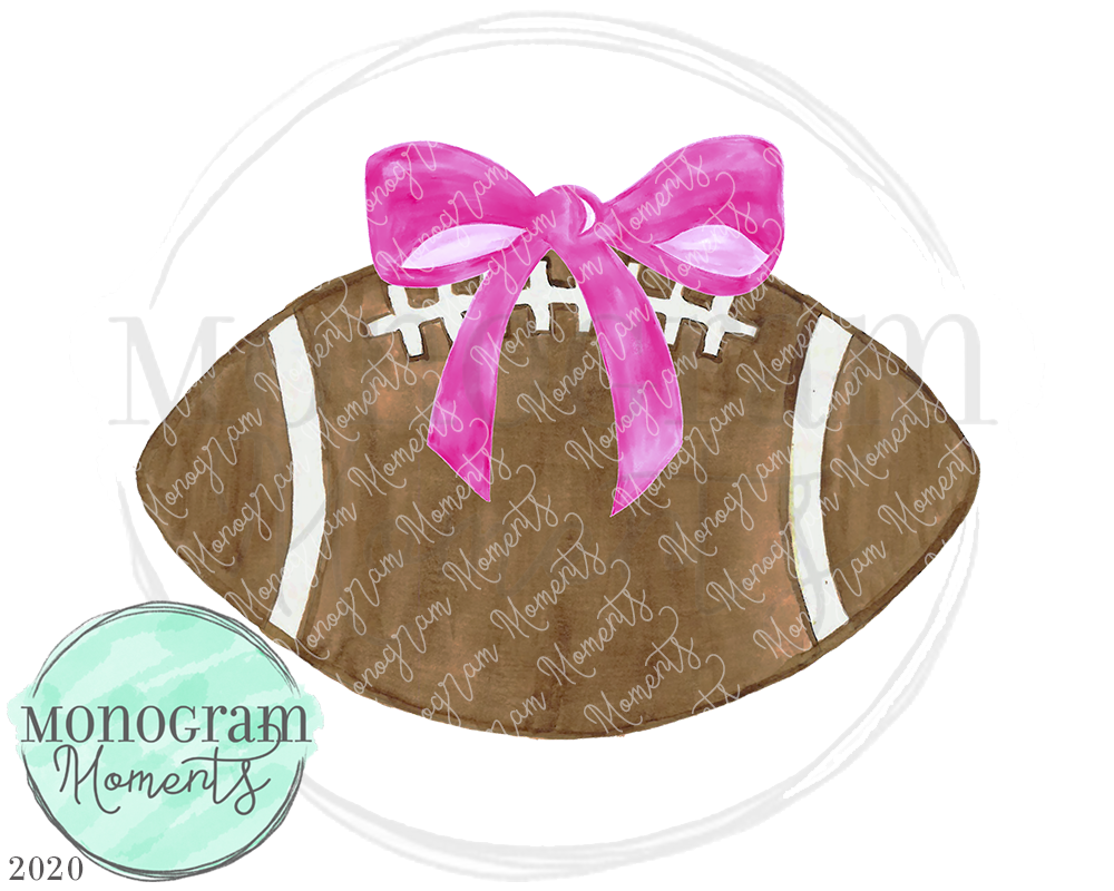 Pink Bow Football