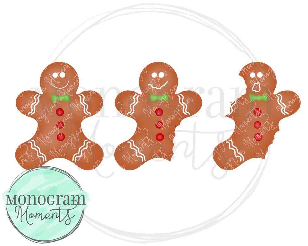 Boy's Bitten Gingerbread Man Trio