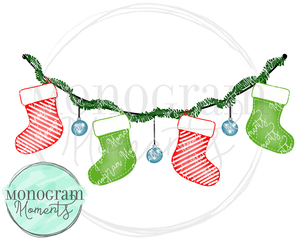 Boy's Christmas Stocking Banner