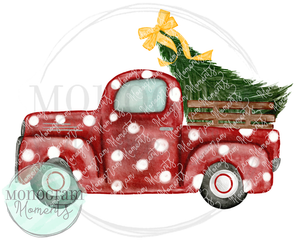 Vintage Truck with Christmas Tree & Bow