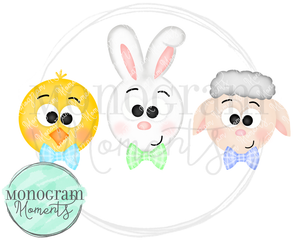 Boy's Easter Animals Trio