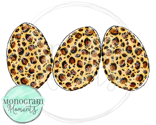 Leopard Print Easter Eggs Trio