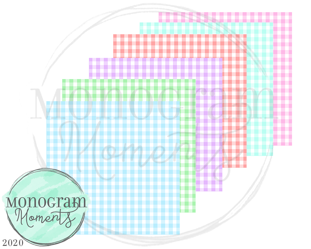 Pastel Small Gingham Backgrounds