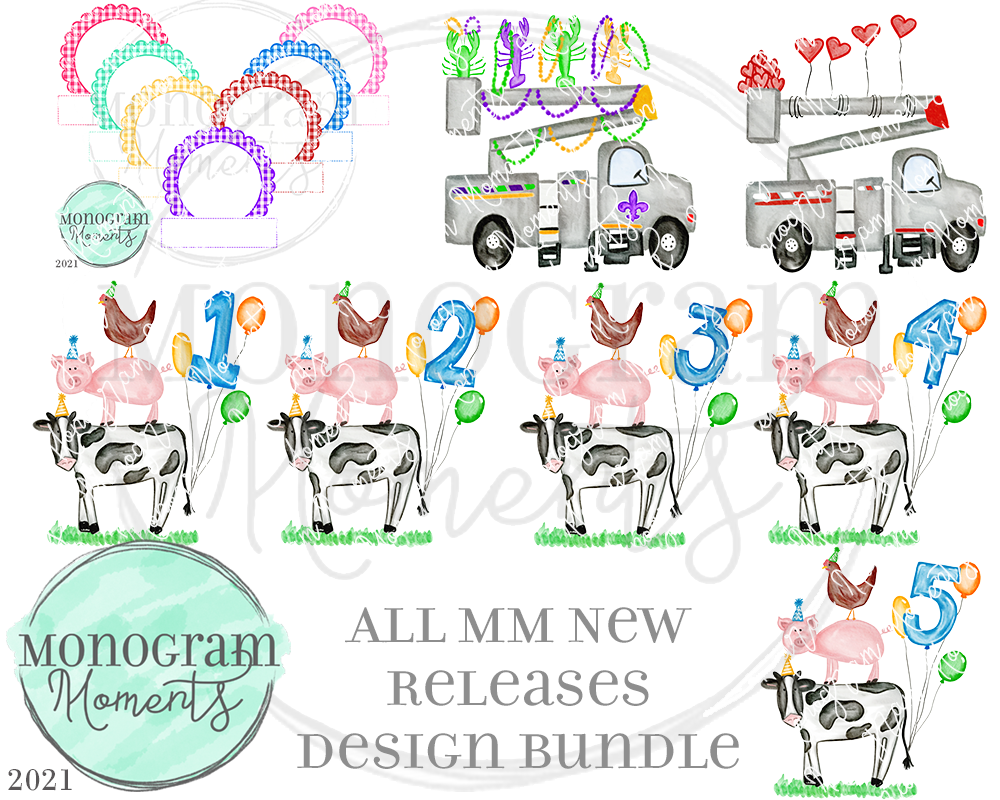 MM New Release Bundle 12/29/20 - Save 50% - 8 Total Designs