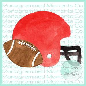 Red Helmet & Football