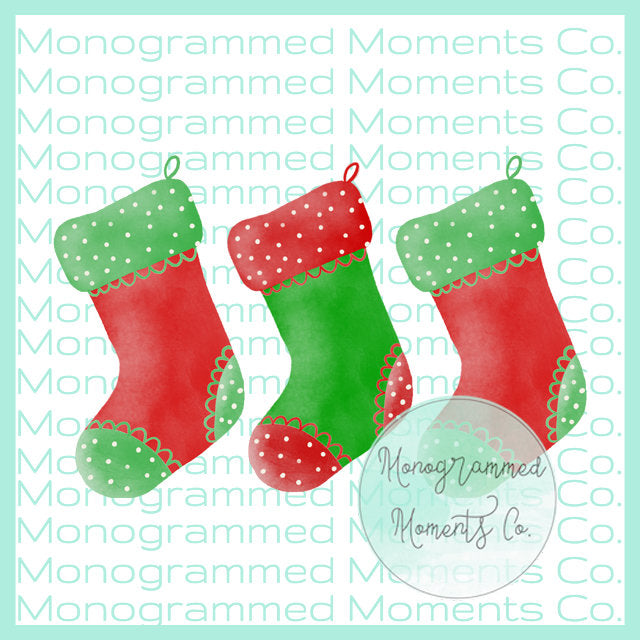 Christmas Stockings Trio 2