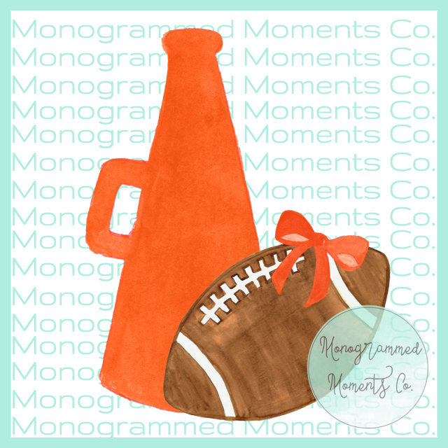 Orange Megaphone & Football