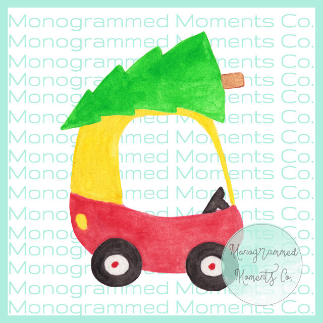 Toddler Car Christmas Tree 1