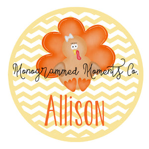 Girl's Turkey Yellow Background