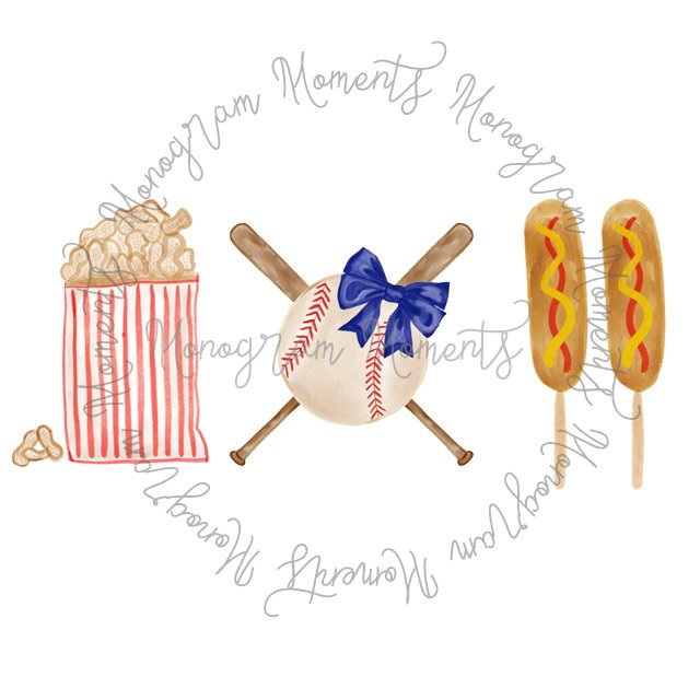 Girl's Baseball & Corndog Trio 2