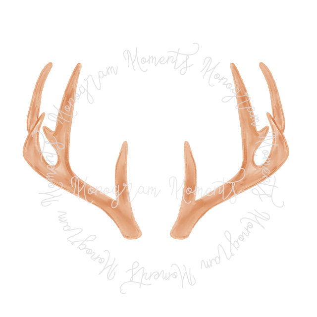 Light Brown Deer Antlers