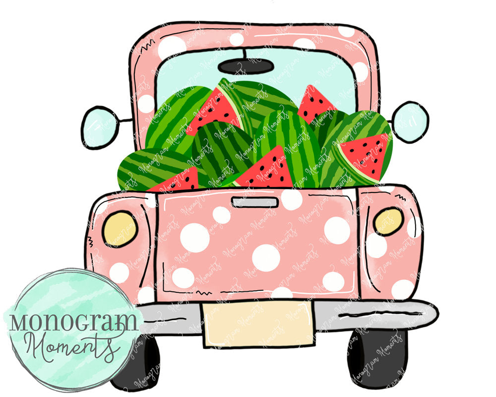 Girl's Vintage Truck Watermelon
