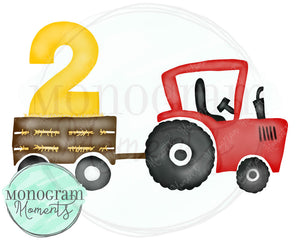 2nd Birthday Red Tractor