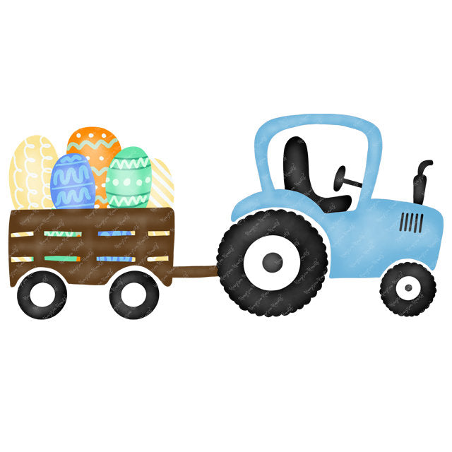 Blue Easter Egg Tractor