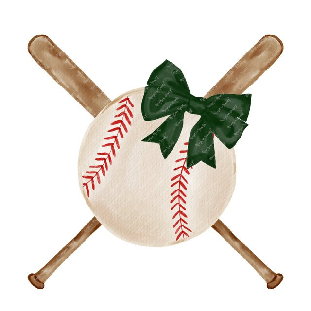 Green Bow Baseball & Bats