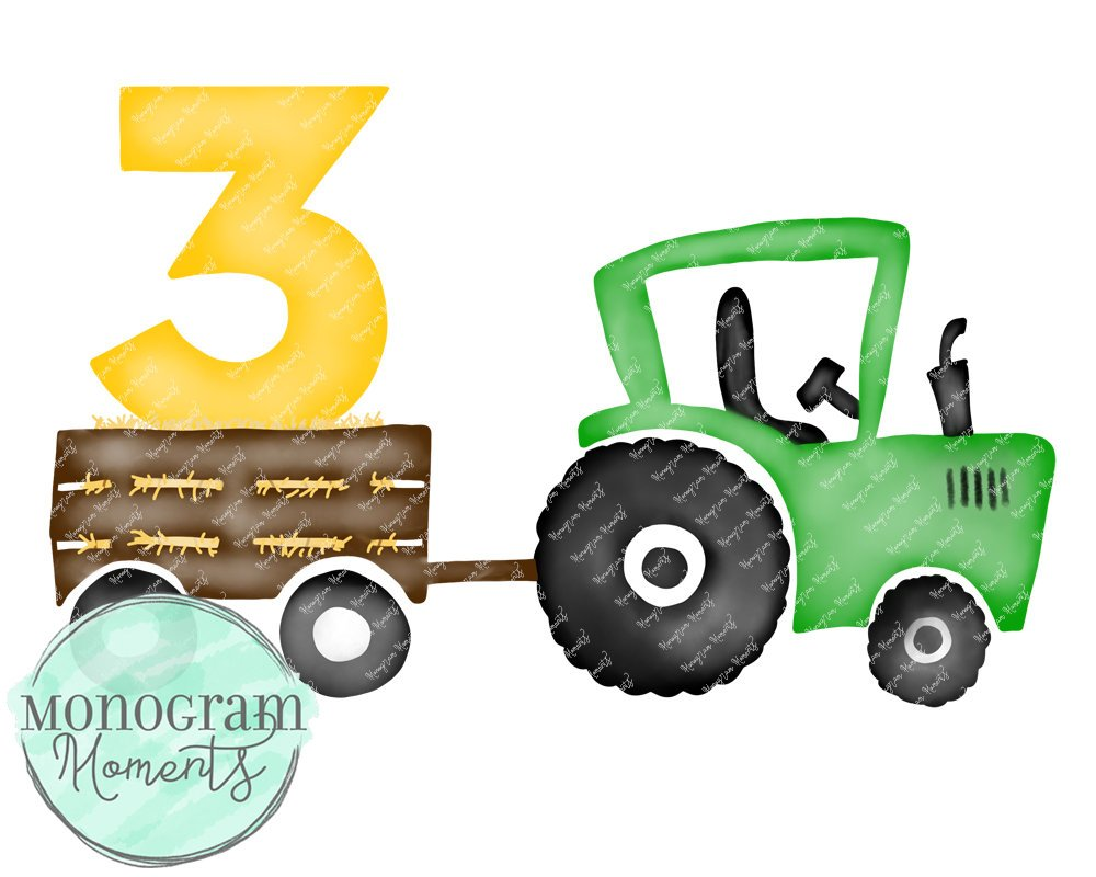 3rd Birthday Green Tractor