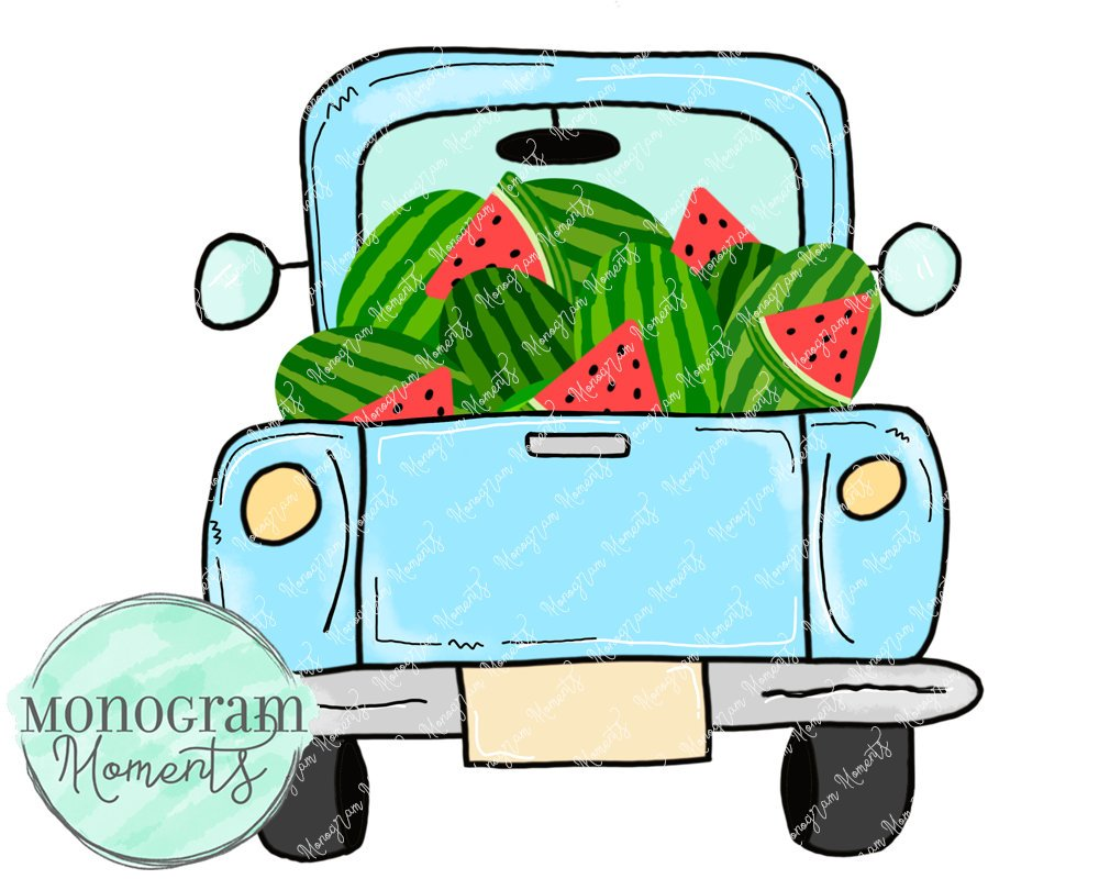 Boy's Vintage Truck Watermelon