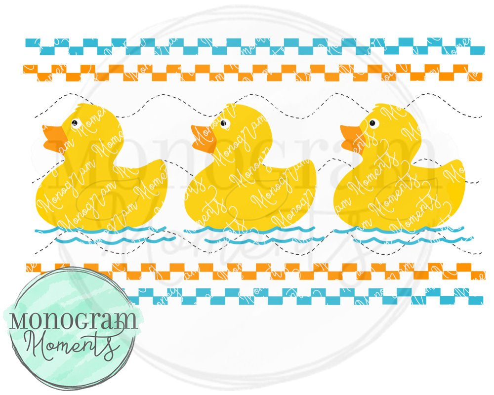Blue Rubber Duck-Faux Smocking