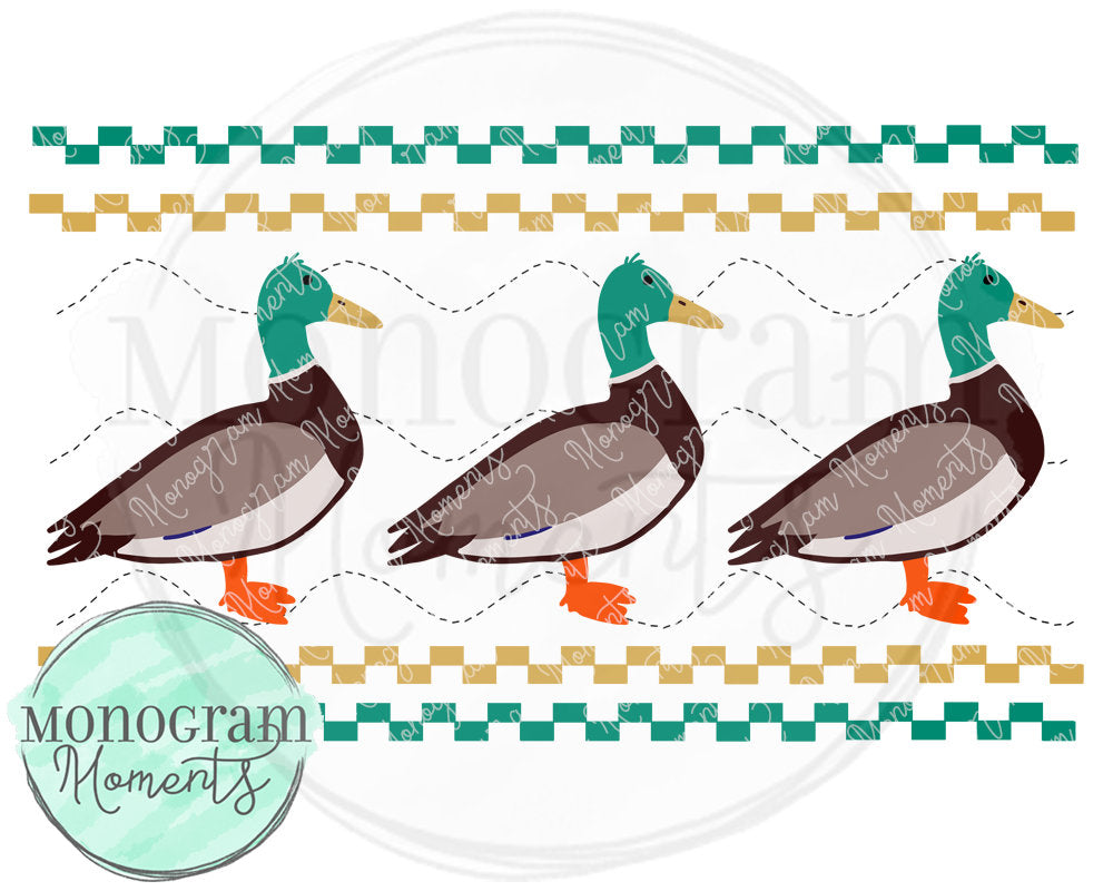 Duck Hunting - Faux Smocking