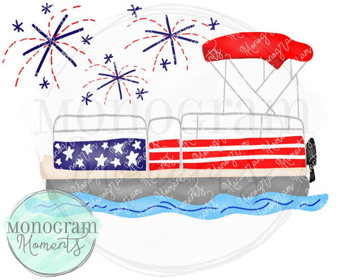 4th of July Pontoon Boat